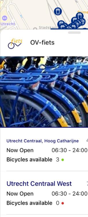 Klantwaarde direct beschikbaar in één gegeven: een telling van het aantal OV-fietsen
